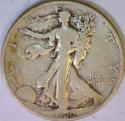 1920-S Walking Liberty Half Dollar; Nice F+