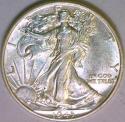 1943 Walking Liberty Half Dollar Choice AU-BU