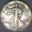 1942-S Walking Liberty Half Dollar Choice AU+