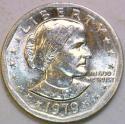 1979-P Near Date, Wide Rim Susan B. Anthony Dollar Nice BU