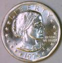 1979-P Near Date, Wide Rim Susan B. Anthony Dollar Choice BU
