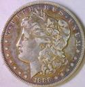 1888 Oval O Morgan Dollar; VAM-2, R-5; Top 100! Choice XF
