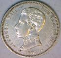 1903 Spain Silver 1 Peseta; XF