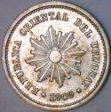 1909-A Uruguay 1 Centesimo; Lustrous Choice BU