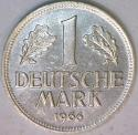 1966-D Germany One Mark; Choice BU
