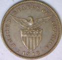 1918-S U.S. Philippines One Centavo; Choice AU-Unc.