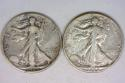 1929-D,S Walking Liberty Half Dollar Pair