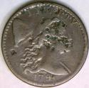1794 Flowing Hair Large Cent; S-63