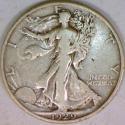 1929-S Walking Liberty Half Dollar; VF