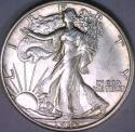 1943-S Walking Liberty Half Dollar; Choice BU