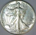 1944-D Walking Liberty Half Dollar; Choice AU+