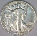 1940-S Walking Liberty Half Dollar; AU