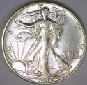 1942-D Walking Liberty Half Dollar; Choice AU-BU