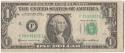 1985 $1 Federal Reserve Note; Obverse Misaligned Error; VF