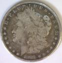 1889-S Morgan Dollar; VG/F