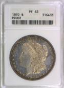 1892 Proof Morgan Dollar ANACS PF-63