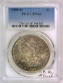 1900-O Morgan Dollar PCGS MS-66; Premium Quality, Toned