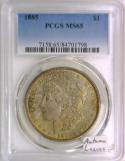 1885 Morgan Dollar PCGS MS-65; Autumn Leaves
