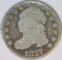 1827 Capped Bust Dime; Nice Original G/AG; JR-13, R-3