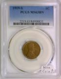 1919-S Lincoln Wheat Cent PCGS MS-63 BN; Nice Coin!