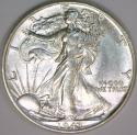 1943 Walking Liberty Half Dollar; Choice AU-BU