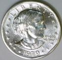 1979-P Near Date, Wide Rim Anthony Dollar; Choice BU