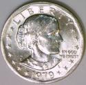1979-P Near Date, Wide Rim Anthony Dollar; Nice BU