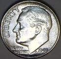 1949 Roosevelt Dime; Gem BU