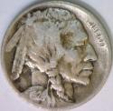 1924-D Buffalo Nickel; Choice Original F+