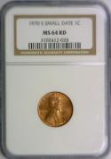 1970-S Small Date Lincoln Cent NGC MS-64 Red
