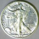 1942-S Small S Walking Liberty Half Dollar; Choice AU