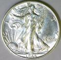 1945-S Walking Liberty Half Dollar; Choice AU+