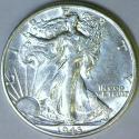 1943-D Walking Liberty Half Dollar; Choice AU-BU