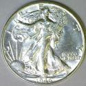 1946 Walking Liberty Half Dollar; Choice AU-BU