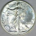 1944-D Walking Liberty Half Dollar; Choice AU-BU