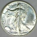 1947 Walking Liberty Half Dollar; Choice AU-BU