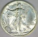 1943-S Walking Liberty Half Dollar; Choice AU-BU