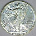 1945-D Walking Liberty Half Dollar; AU