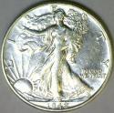 1942-D Walking Liberty Half Dollar; AU