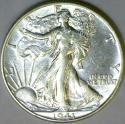 1941-D Walking Liberty Half Dollar; AU