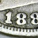1889/18 Liberty Nickel; Repunched Date, FS-301; VG+/F; Rare Variety!