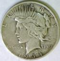 1934-D Peace Dollar; VF