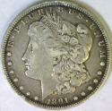 1891-CC Morgan Dollar; VF