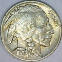1920 Buffalo Nickel; Choice AU+
