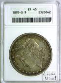 1895-O Morgan Dollar ANACS EF-45; Looks Nice !