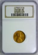 1949-S Lincoln Wheat Cent NGC MS-66 RD
