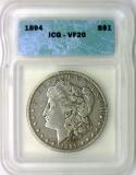 1894 Morgan Dollar ICG VF-20