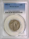 1927-S Standing Liberty Quarter PCGS VG-10; Choice Original