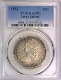 1832 Large Letters Bust Half Dollar PCGS AU-53