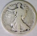 1917-S Obverse Walking Liberty Half Dollar; Nice Original G/AG